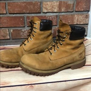 Timberland tan work boots size 10 1/2